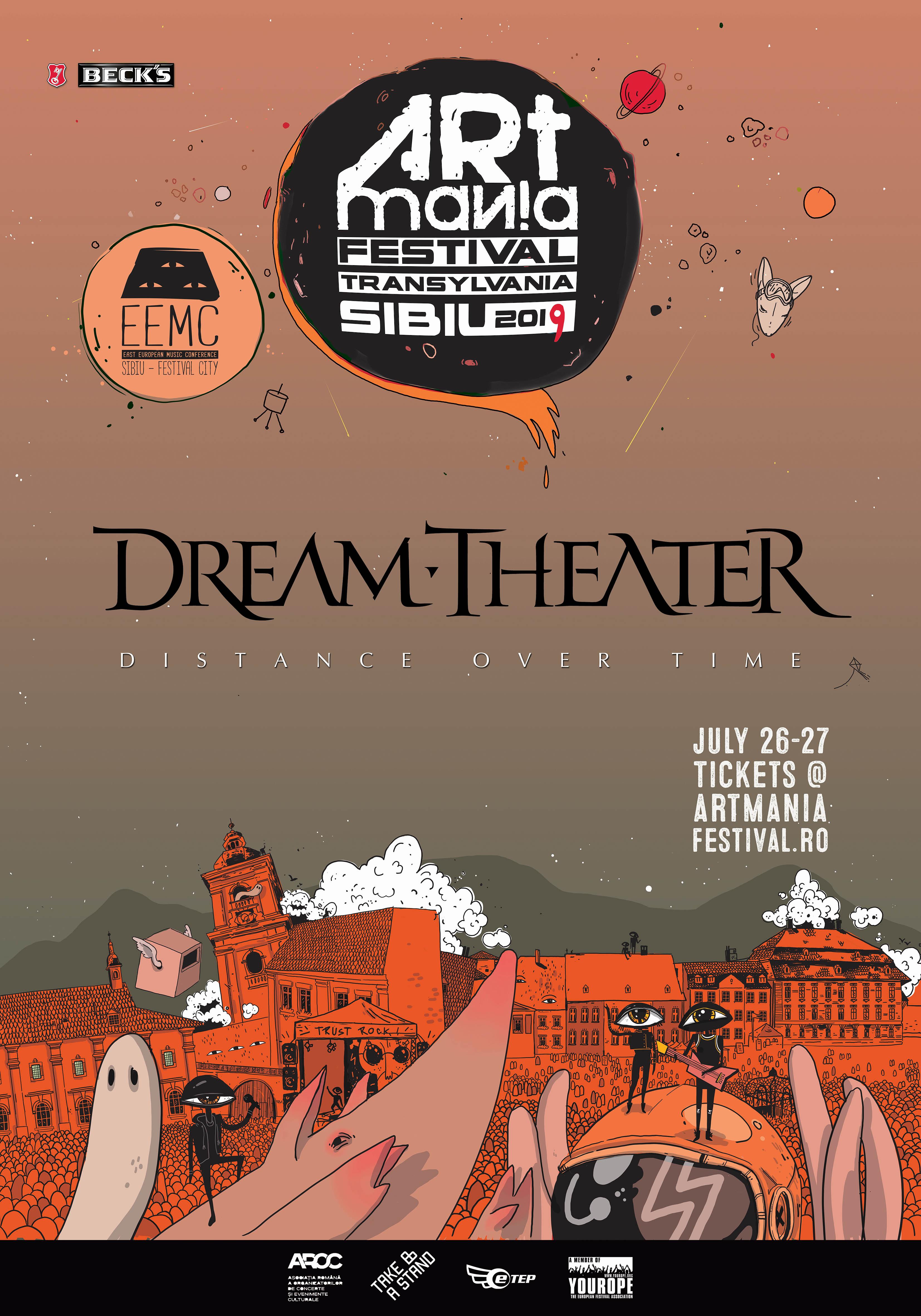 Dream Theater confirmat la ARTmania Festival 2019